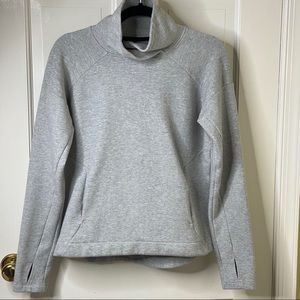 Champion Funnel Neck Gray Victory Fleece A-34